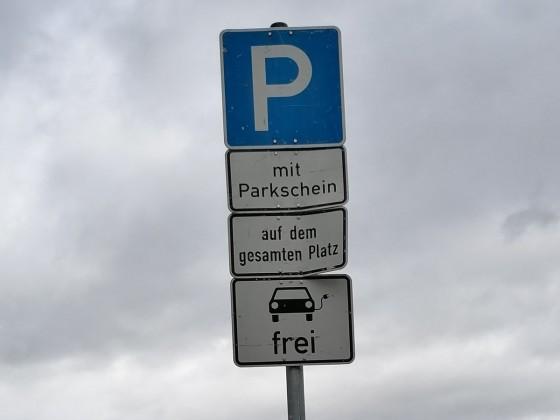 e-Parken frei, boah schon wieder Geld gespart